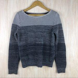 Banana Republic Blue Ombré Marled Stripe Sweater